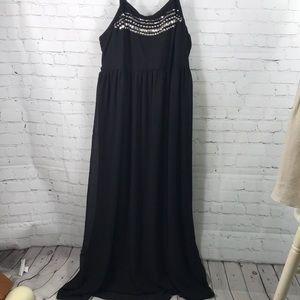 Torrid Smocked Maxi Dress Bedazzled Size 3 EUC